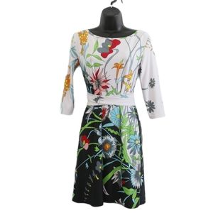 EMILIO PUCCI Floral Print Body Con Dress